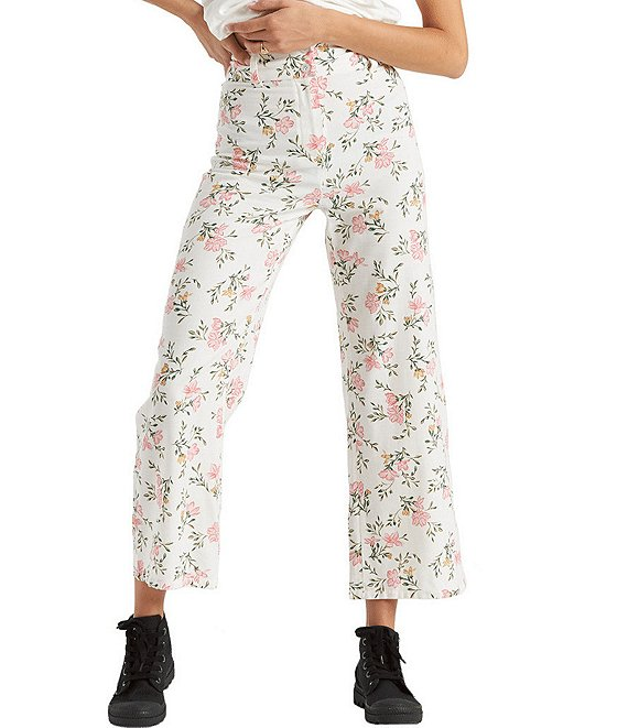 Color:Cool Wip - Image 1 - Back At It Floral-Printed Crop Pants