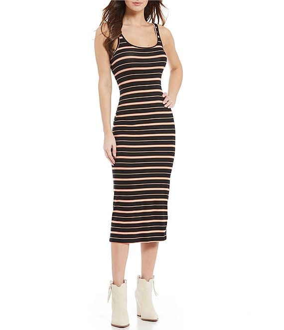 Billabong Share Joy Stripe Midi Dress