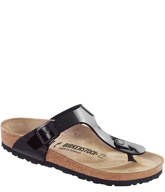 ad799635a Birkenstock Women s Gizeh Patent Thong Style Slip-On Sandals
