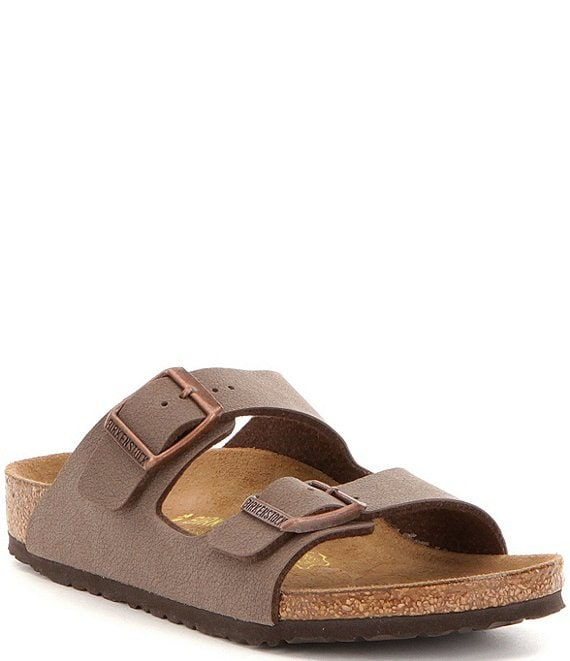 Color:Brown - Image 1 - Kids' Arizona Double Banded Buckle Slip-On Sandals (Youth)