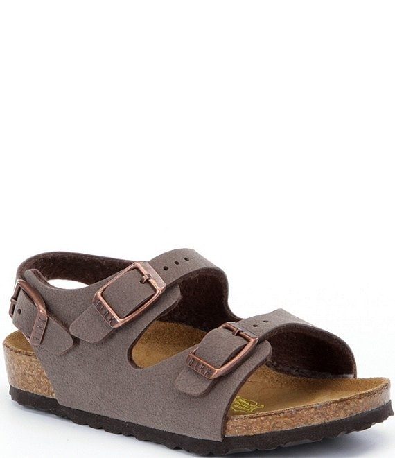 Color:Brown - Image 1 - Kids' Roma Adjustable Buckle Slingback Sandals (Infant)