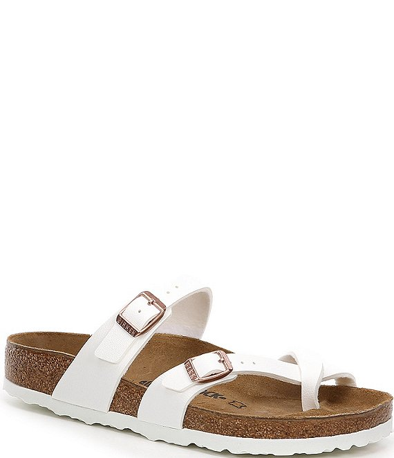 Color:White - Image 1 - Women's Mayari Adjustable Buckle Criss Cross Sandals