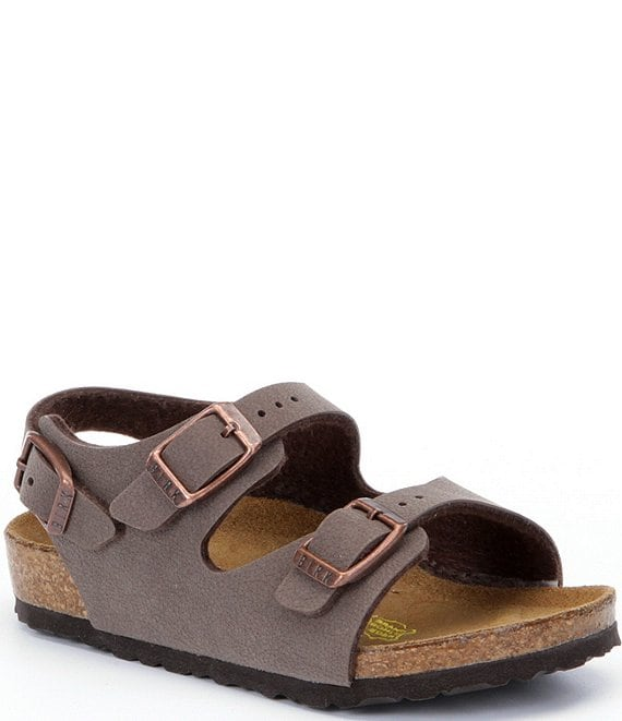 Color:Brown - Image 1 - Kid's Roma Adjustable Buckle Slingback Sandals (Youth)