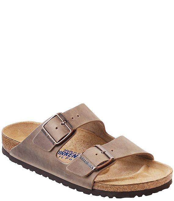 92d0994420df Birkenstock Arizona Men s Oiled Leather Soft Footbed Slip On Sandals ...