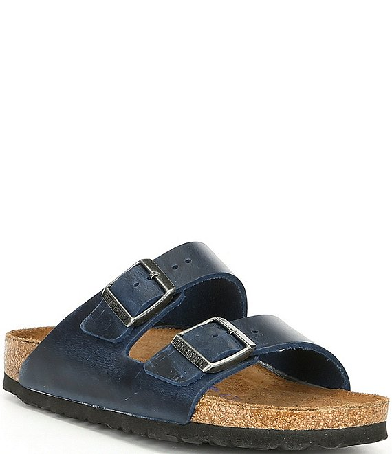 Color:Blue - Image 1 - Women's Arizona Soft Footbed Leather Sandals
