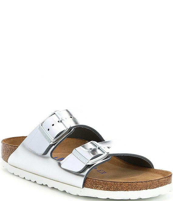 Birkenstock Women's Arizona Soft Footbed Metallic Leather Sandals
