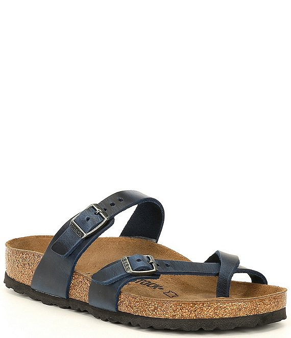 Color:Blue - Image 1 - Women's Mayari Oiled Leather Sandals