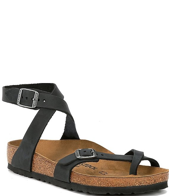 Color:Black - Image 1 - Yara Leather Sandals