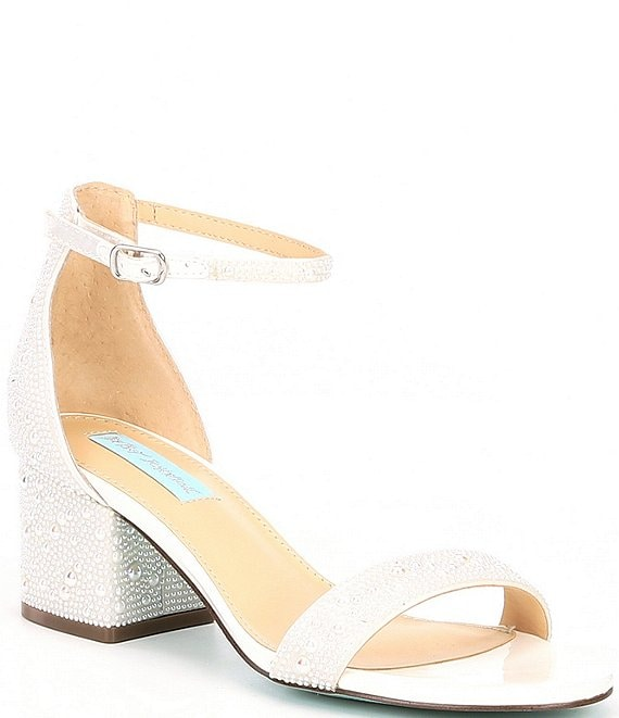 Color:White - Image 1 - Blue by Betsey Johnson Mari Block Heel Dress Sandals