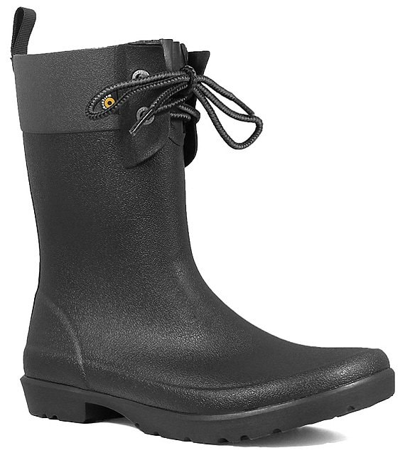 Color:Black - Image 1 - Women's Flora 2 Eye Rain Booties