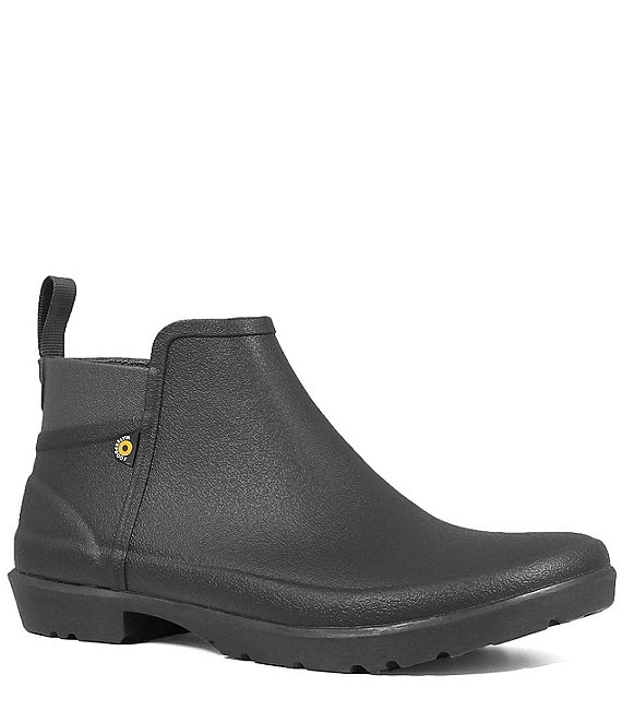 Color:Black - Image 1 - Women's Flora Waterproof Ankle Rain Booties
