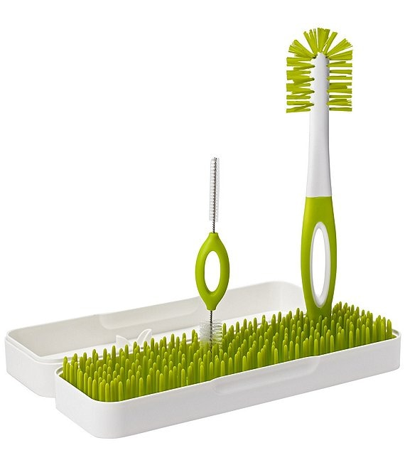 Color:Green - Image 1 - TRIP Travel Drying Rack + Bottle Brushes