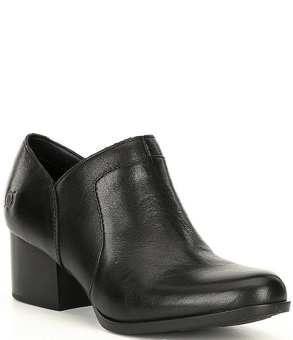 Born Caley Leather Block Heel Ankle