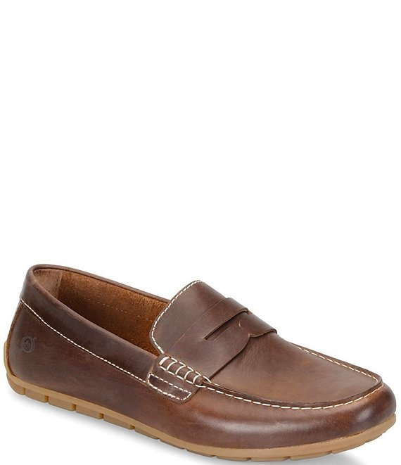 Color:Brown - Image 1 - Men's Andes Leather Loafers