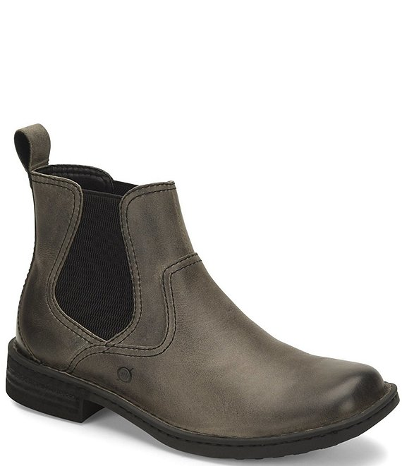 Color:Grey - Image 1 - Men's Hemlock Leather Chelsea Boots