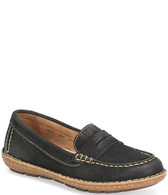 Color:Black - Image 1 - Nerina Suede Penny Loafers