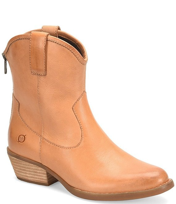 Born Wynd Leather Western Stacked Block