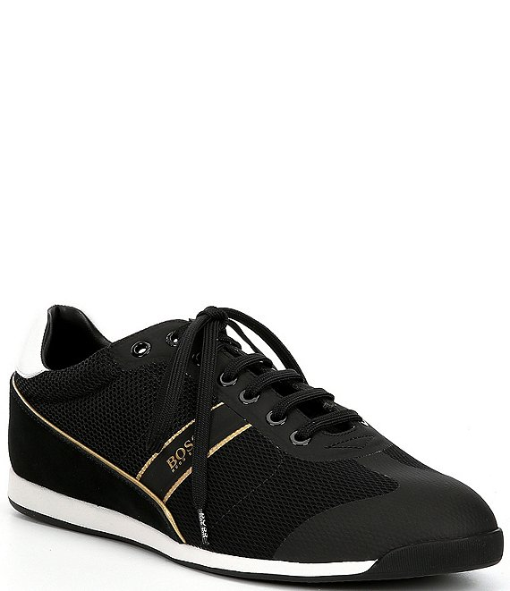 Color:Black/Gold - Image 1 - BOSS Hugo Boss Men's Glaze Low Profile Sneaker