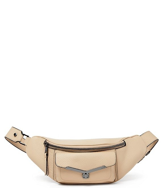 Color:Fawn - Image 1 - Valentina Zip Leather Belt Bag