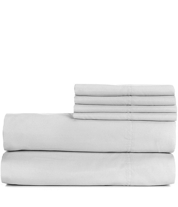 Color:Gray - Image 1 - 1000-Thread-Count Sateen Sheet Set with Bonus Pillowcases