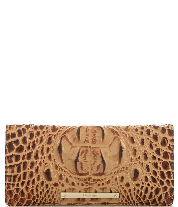 Color:Toasted Almond - Image 1 - Melbourne Collection Crocodile-Embossed Ady Wallet