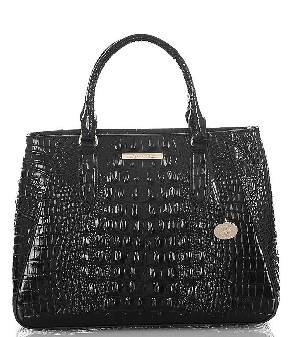 BRAHMIN Melbourne Collection Crocodile-Embossed Small Irene Satchel Bag