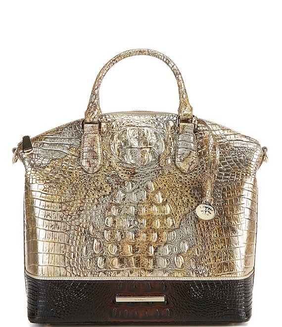 Color:Symphony - Image 1 - Melbourne Collection Large Duxbury Crocodile-Embossed Dome Satchel Bag