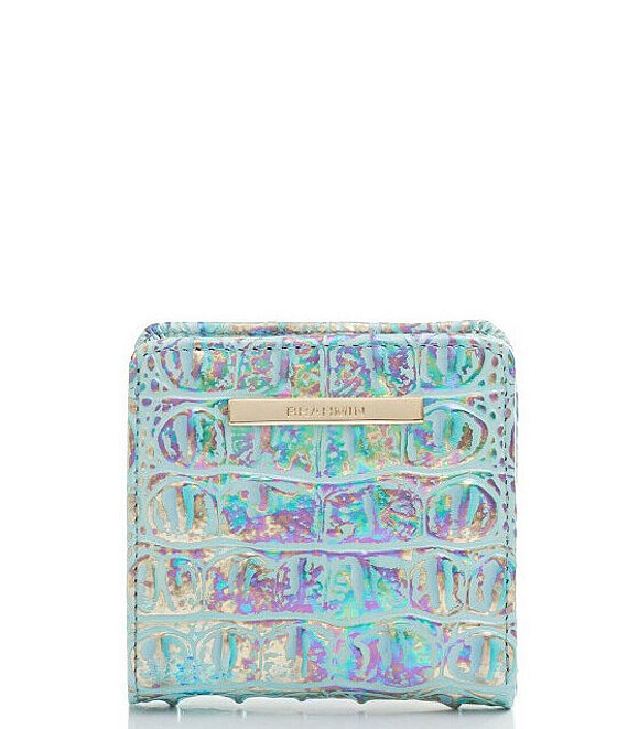 Color:Wonderland - Image 1 - Melbourne Collection Leather Crocodile-Embossed Jane Mini Bifold Snap Wallet