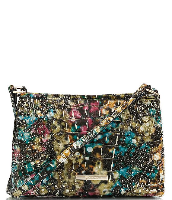 BRAHMIN Melbourne Collection Lorelei Crocodile-Embossed Shoulder Bag