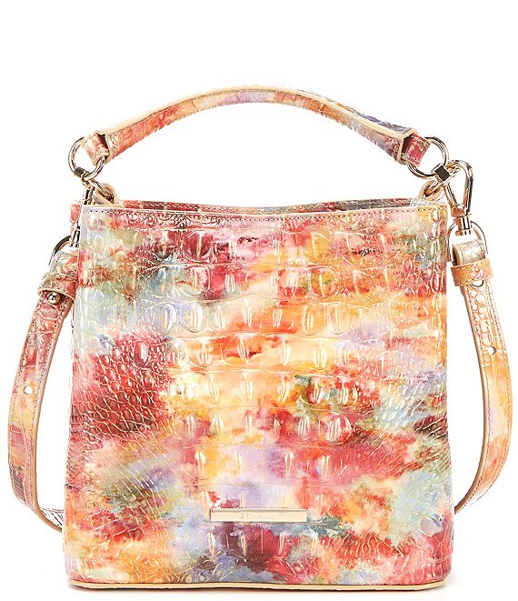 Color:Candy - Image 1 - Melbourne Collection Mini Amelia Crocodile-Embossed Bucket Bag