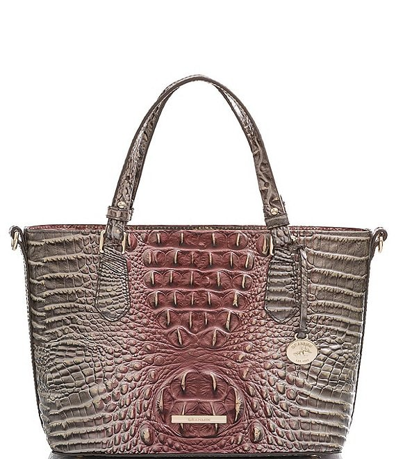 Color:Garnet - Image 1 - Melbourne Collection Mini Misha Crocodile-Embossed Satchel Bag