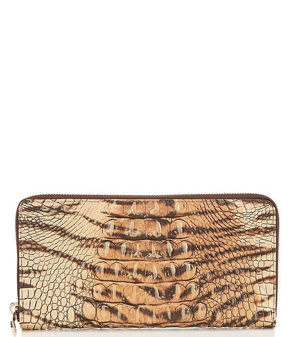 Color:Feline - Image 1 - Melbourne Collection Skyler Crocodile-Embossed Travel Wallet