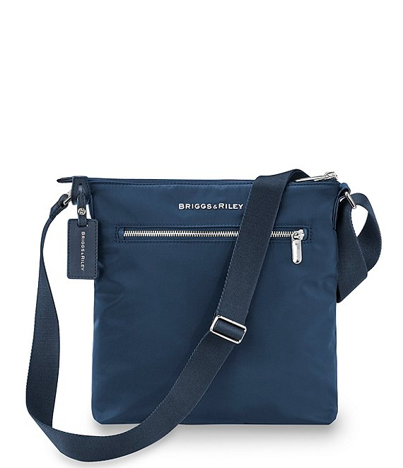 Color:Navy - Image 1 - Rhapsody Zip Nylon Crossbody Bag