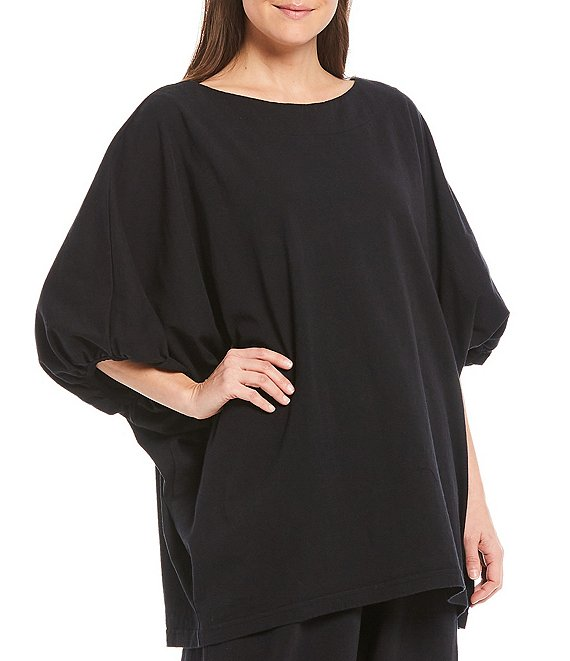 Color:Black - Image 1 - Wilder Cotton Jersey Dolman Sleeve Tunic