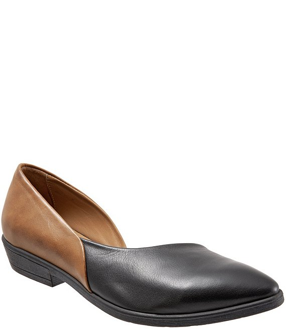 Bueno Opal Half d'Orsay Colorblock Leather Slip Ons