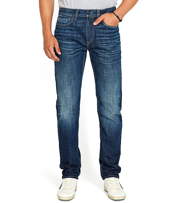 Color:Indigo - Image 1 - Tapered Ben Relaxed Straight Jeans