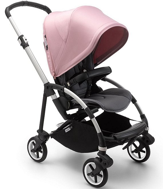 Color:Aluminum Chassis/Grey Melange/Soft Pink - Image 1 - Bee 6 Compact City Stroller - Aluminum Chassis