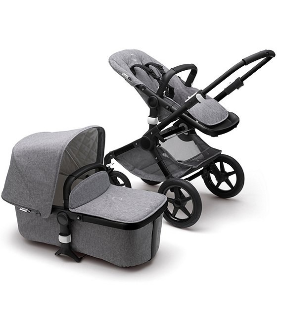 Color:Black/Grey Melange - Image 1 - Fox2 Complete Stroller