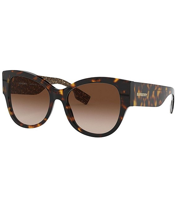 Color:Dark Havana - Image 1 - Vintage Check Butterfly Sunglasses