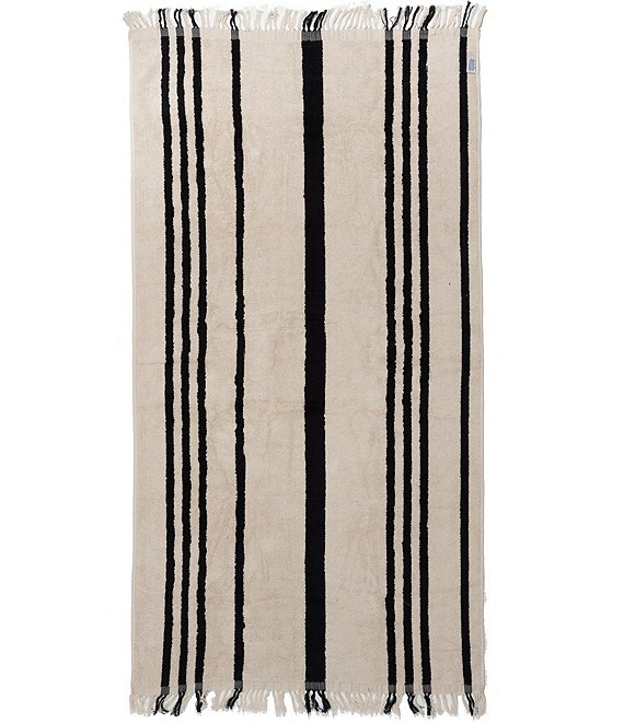 Color:Black Stripe - Image 1 - Beach Towel