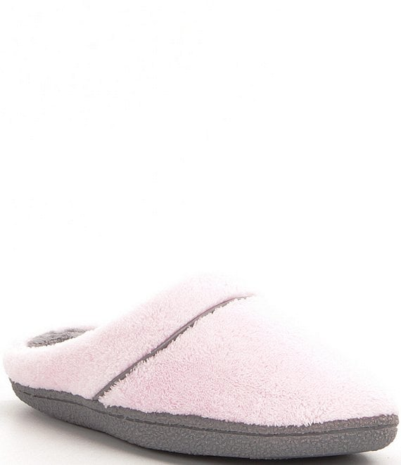 Color:Fresh Pink - Image 1 - Microfiber Terry Slippers