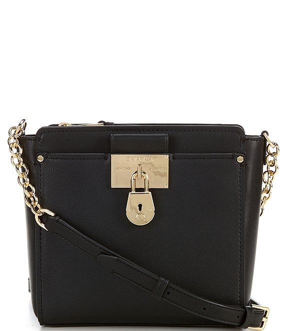 Color:Black/Gold - Image 1 - Camille Small Crossbody Bag