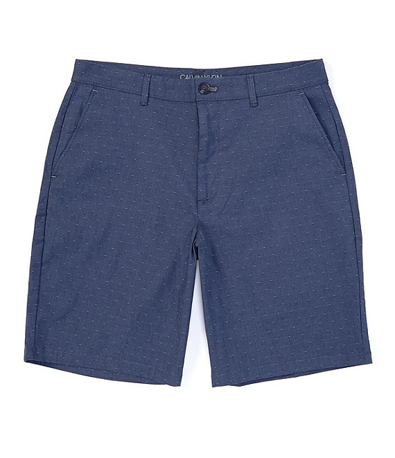 Color:Sky Captain - Image 1 - Diamond Dobby Stretch 9#double; Inseam Shorts