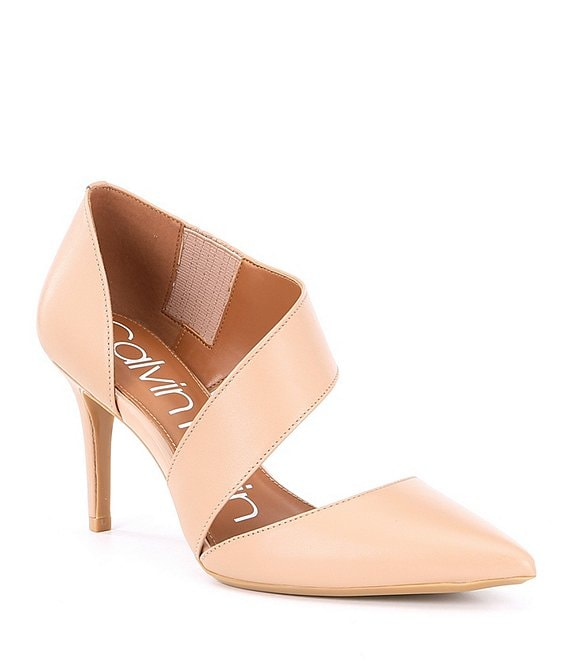 Calvin Klein Gella Leather Asymmetrical Pumps