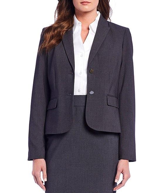 b3ad448937ce53 Calvin Klein Notch-Collar Jacket   Pencil Skirt