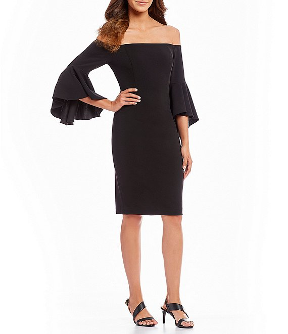 42671d4c Calvin Klein Off the Shoulder Flutter Bell Sleeve Dress | Dillard's