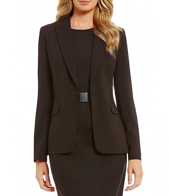 Color:BLACK - Image 1 - One-Button Jacket