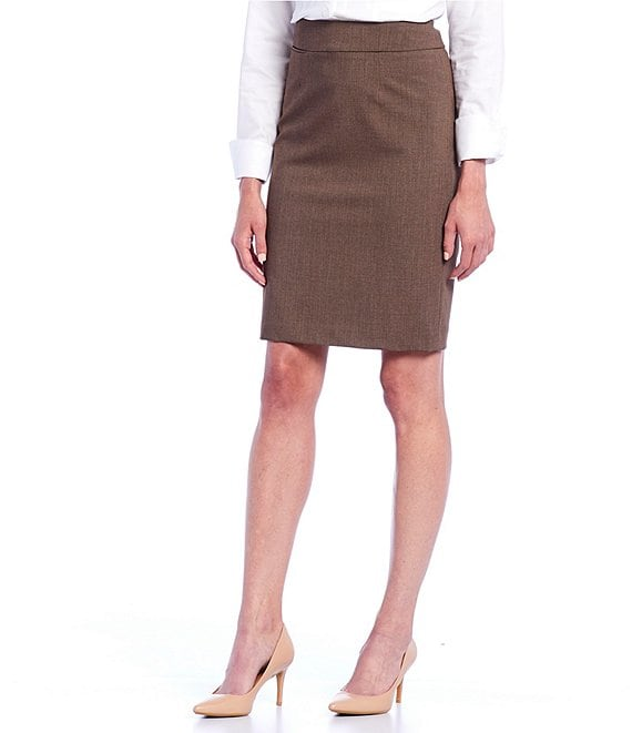 Color:Heather Taupe - Image 1 - Pencil Skirt