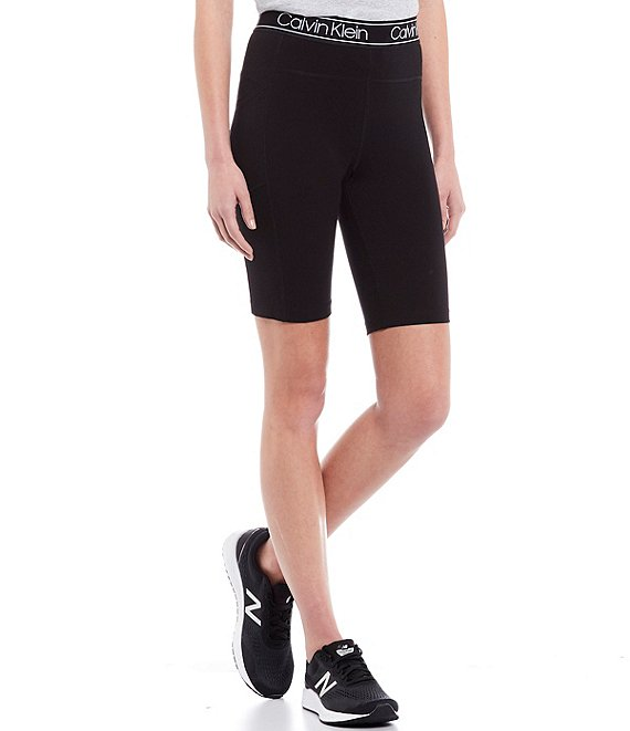 Color:Black - Image 1 - Performance Logo High Waist Bike Short