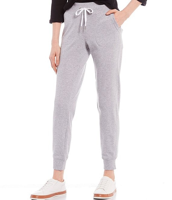 Color:Pearl Grey Heather - Image 1 - Performance Pull-On Terry Joggers